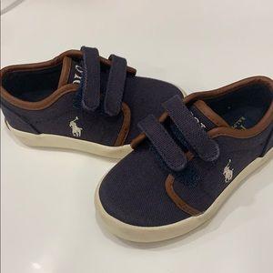 Ralph Lauren Navy Velcro Sneaker 5 1/2